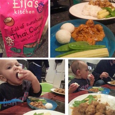 Peanut Diaries - Baby Green Curry Meatballs with Ella's Kitchen