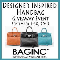 Designer Inspired Handbag Giveaway - Ends 9/30 (WW)