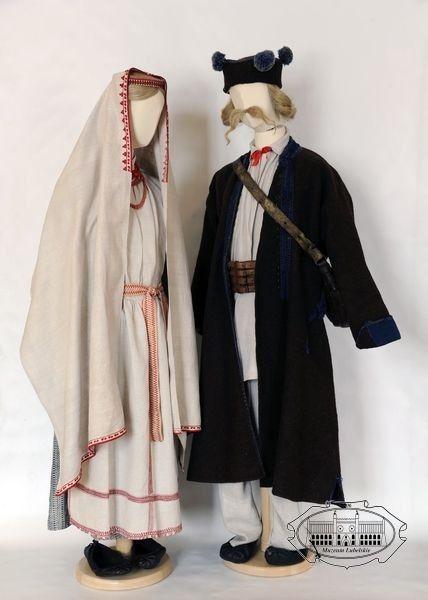 Folk costumes from Biłgoraj, Poland - turn of 19th/20th centuries.