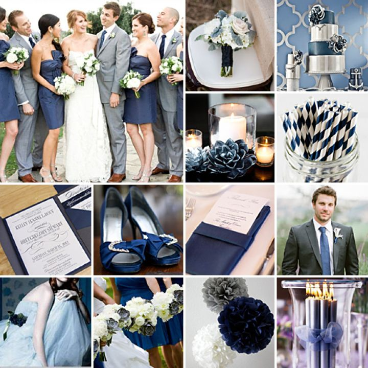 navy and grey weddings