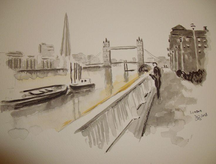 London-street sketch-