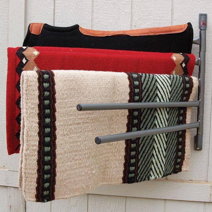 5-Arm Wall Horse Saddle Pad/Blanket Rack