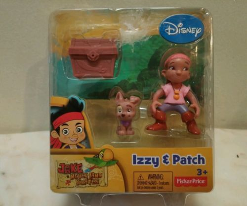 Disney Jake's Neverland Izzy & Patch New in package 3+ Fisher Price Disney Jake's Neverland Izzy & Patch Ages 3+ By Fisher Price New purchased for resale by Keywebco Video inspected during shipping Shipped fast and free from the USA The item for sale is pictured and described on this page. The stock photo may include additional items for display purpose only - which will not be included. Packages may show wear or be opened if the battery is replaced or during the inspection…