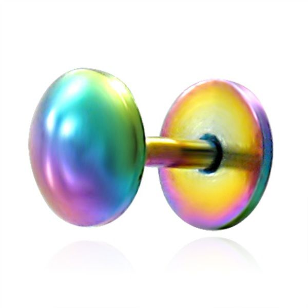 Stainless Steel Labret Bar Rainbow Mouth Piercing - http://www.facebook.com/127468351937/posts/10152794991926938