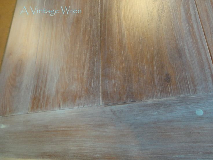 Farm Table Top With A Wash Coat Of Aqua Over Stain Https Www Facebook Com