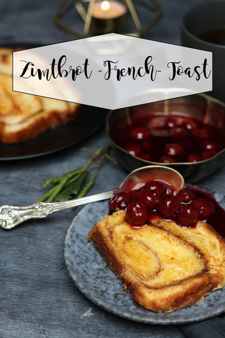 Zimtbrot French Toast mit Kirschkompott