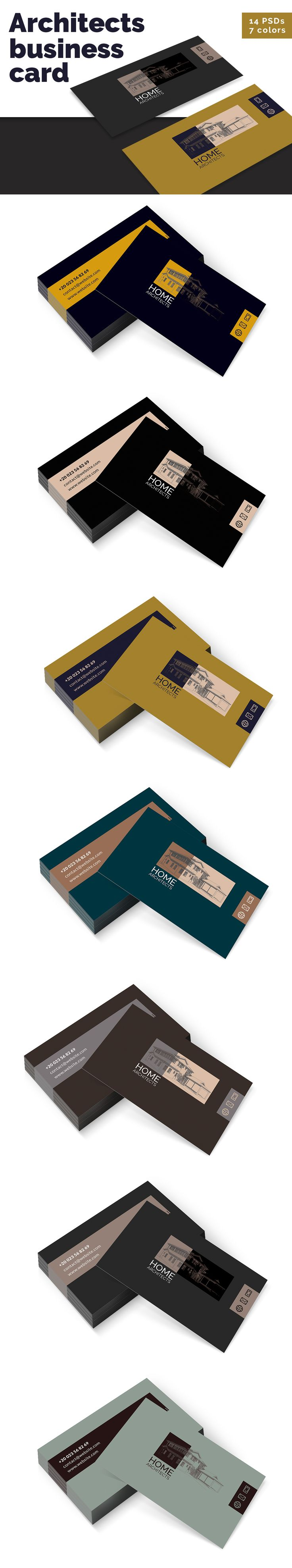 Architects Business Cards Templates