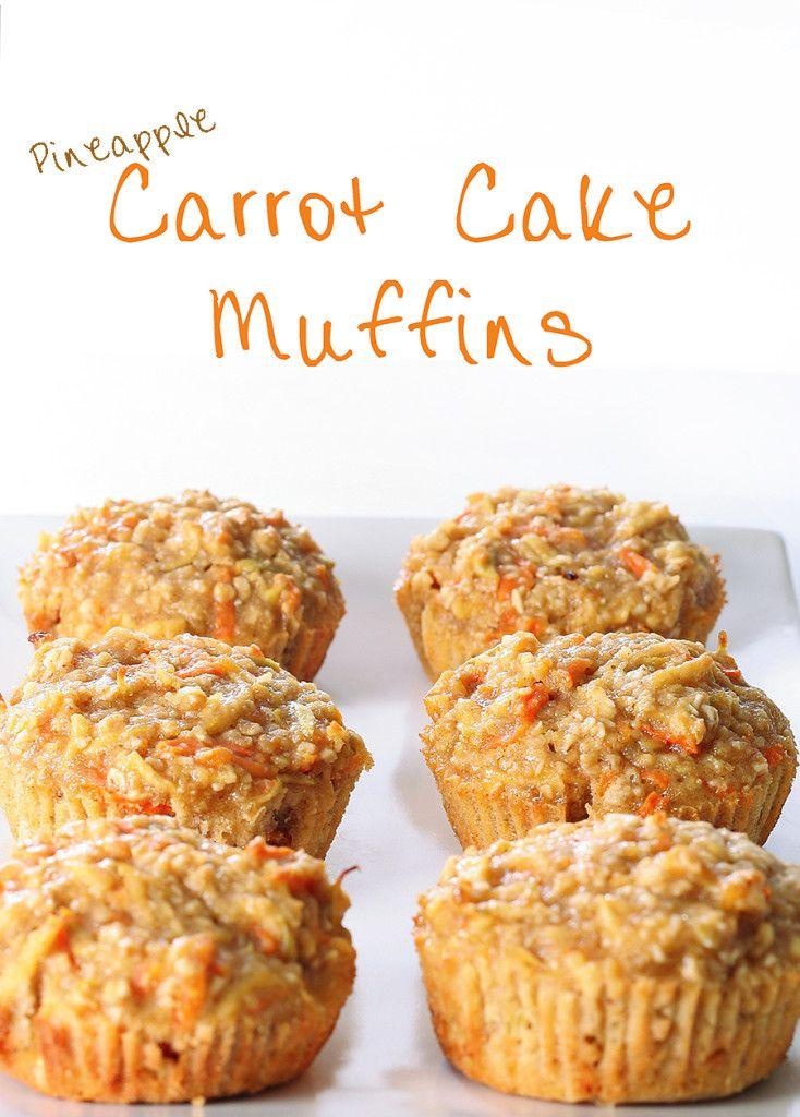 Pineapple Carrot Cake Muffins