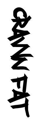 Spectacular free graffiti font available on Fonts2u. Download Crawn Fat at http://www.fonts2u.com/crawn-fat.font