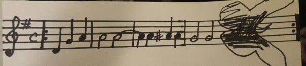 "Idea for a future forearm piece to go with my 3D butterfly, 3D sheet music of ""You are my sunshine ""!"