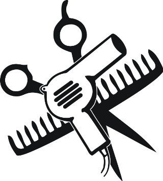 """Amazon.com - SCISSORS AND COMB AND HAIR DRYER 5"""" TALL DECAL BLACK -"""