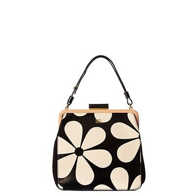 Orla Kiely | UK | Bags | AW14 Mainline | Snowdrop Printed Patent Leather Holly Bag (14ABSND019) | Marble