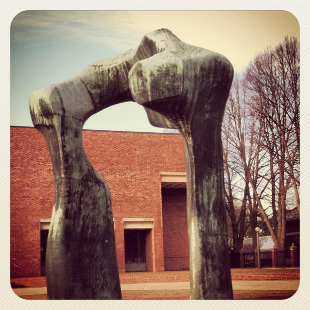 Large Arch - Artist Henry Mohr's sculpture is  viewable in front of the Public Library, Columbus, Indiana USA