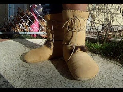 how to make moccasin boots from deer hide
