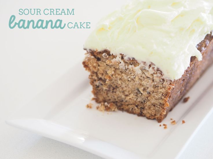 You know what make cakes perfectly delicious? Sour cream. Whip up this banana sour cream cake today.
