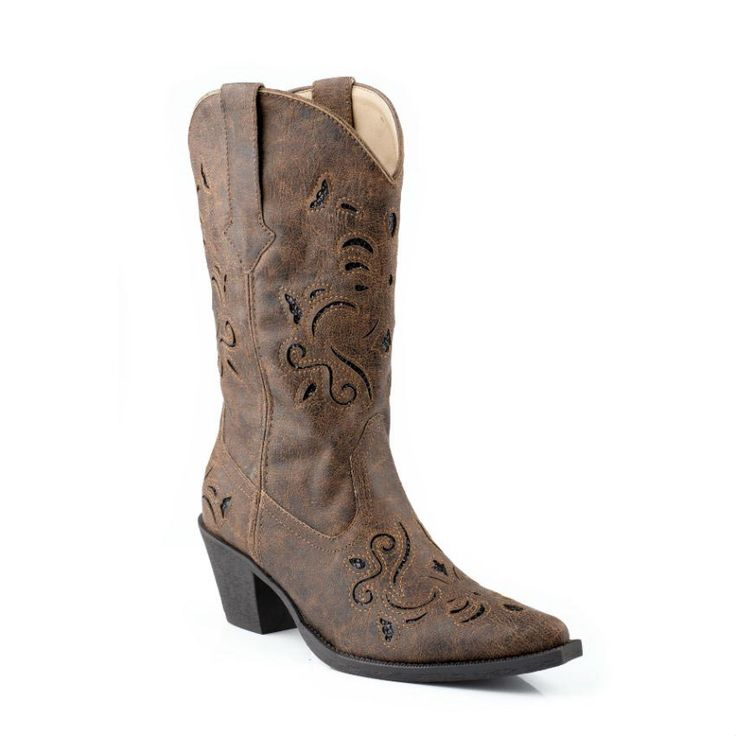 Roper Women's Glitter Underlay Western Boots - Fun yet affordable! :) I kind of think I like these the most....what do you think?