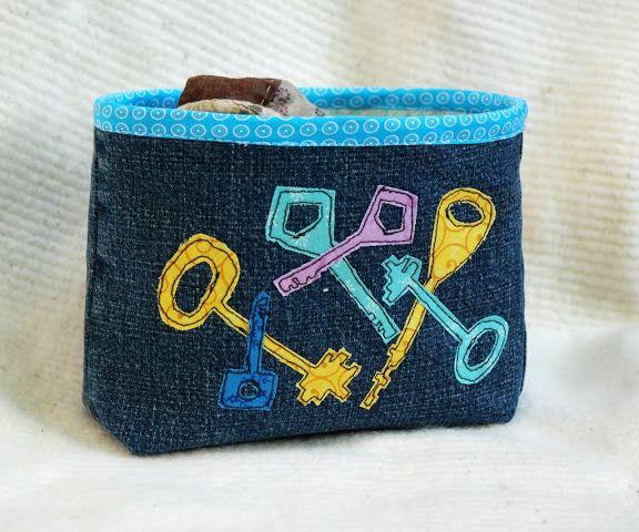 Marja Karlin little pouche for keys recycled jeans