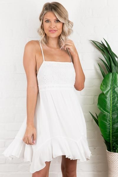 9449ed65e9a Haven Eyelet Dress in White