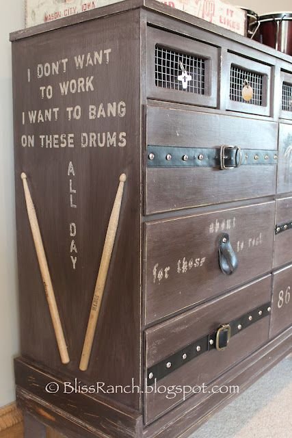 Amazing Rock Nu0027 Roll Themed Dresser By Bliss Ranch