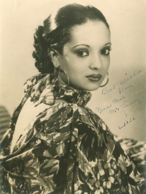 """The """"Black Garbo,"""" Nina McKinney Date: Wed, 1912-06-12 *Nina M. McKinney is remembered on this date, born in 1913. She was an African American actress and entertainer; she was one of the first Black actress' to make her name in American cinema."""