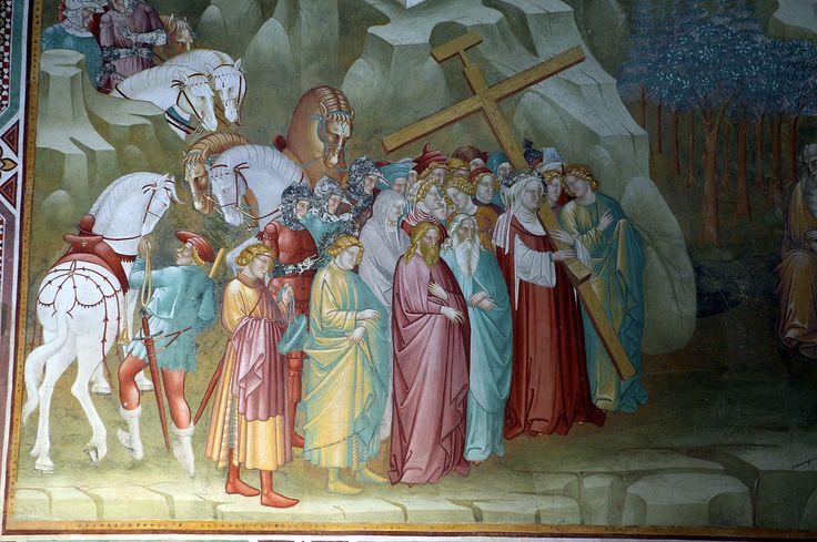 Cenni di francesco, cappella della croce di giorno, 1410, sant'elena trasporta la croce a gerusalemme 03,0.JPG