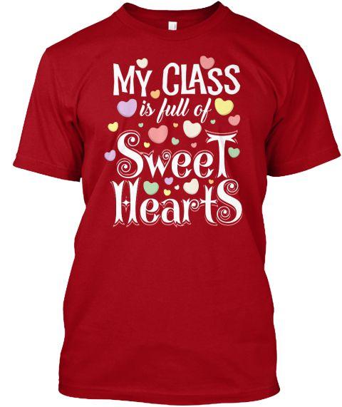 Valentines Day Teacher Shirt Deep Red Ao T Shirt Front