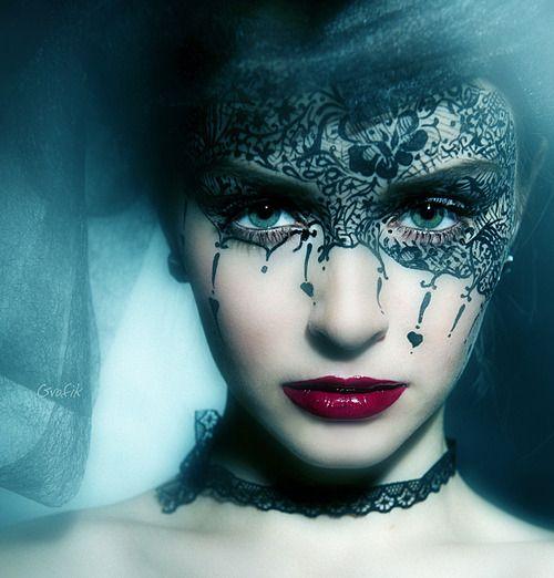 Face Makeup, Lace, The Queens, Halloween Makeup, Makeup Art, Mardi Gras, Face Masks, Masquerades, Night Circus