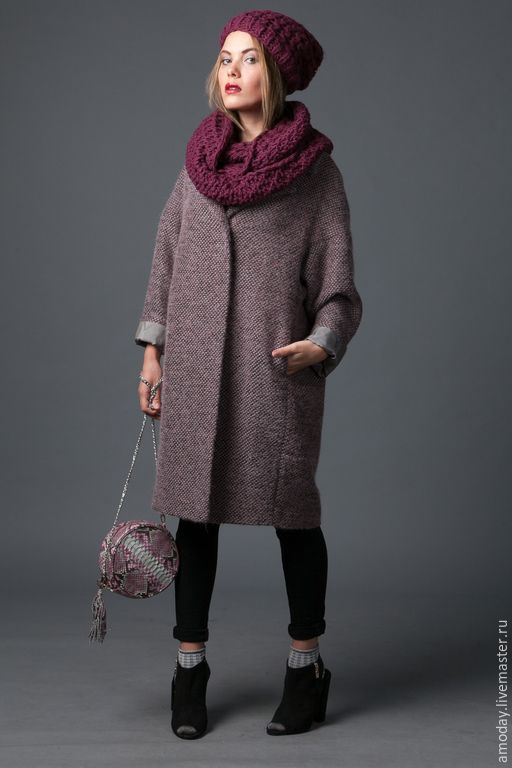 """Пальто """"Шанелька. Пальто из шерсти и мохера. - серый, однотонный, пошив пальто под заказ, handmade"""