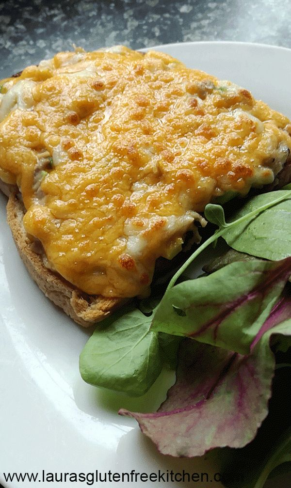 Gluten free Tuna Melt --- Creamy and crunchy tuna salad already makes for a filling dish. Imagine how much better it would be on a slice of bread!