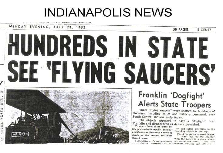 News Headlines Picture: Legacy Of 1952: Year Of The UFO, Newspaper Articles :: The