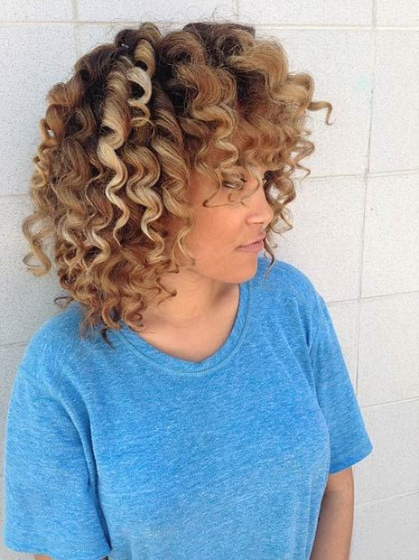 Are you tired of your straight boring hair? Get tight, kinky and natural-looking curls using a curling wand ranging from 13 mm – 19 mm. Women with medium length hair can achieve this playful hairstyle in less than 15 minutes! Crazy!