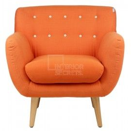 orange retro armchair