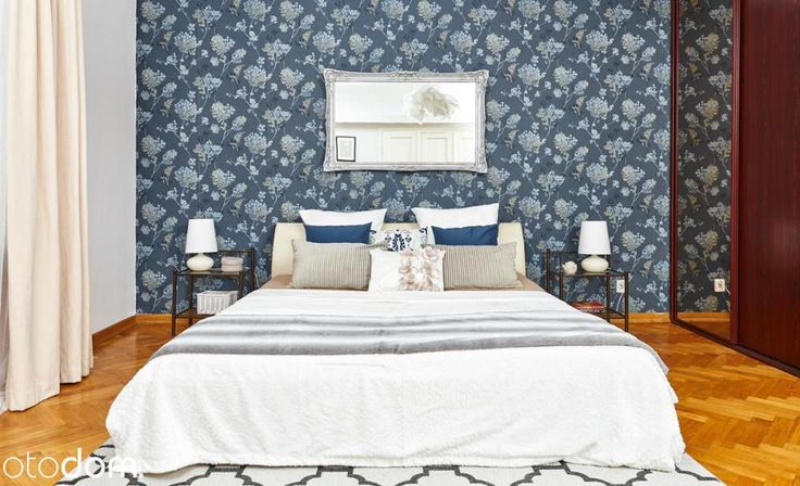 patterned wallpaper - bedroom