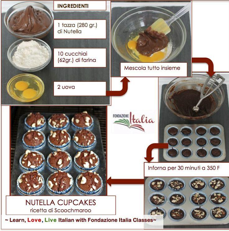 Nutella Cupcakes  http://www.italianfoundation.org/ https://www.facebook.com/LearnItalianwithFondazioneItalia