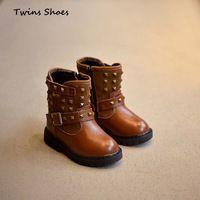 2015 зима меховые сапоги девушки высокие сапоги для детей теплую обувь подлинной кожаные сапоги детей стержня обувь детская motocycle чистка