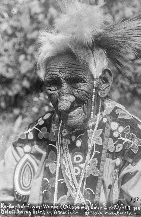 Джон Смит - индеец, который прожил 138 лет    портрет   Индеец