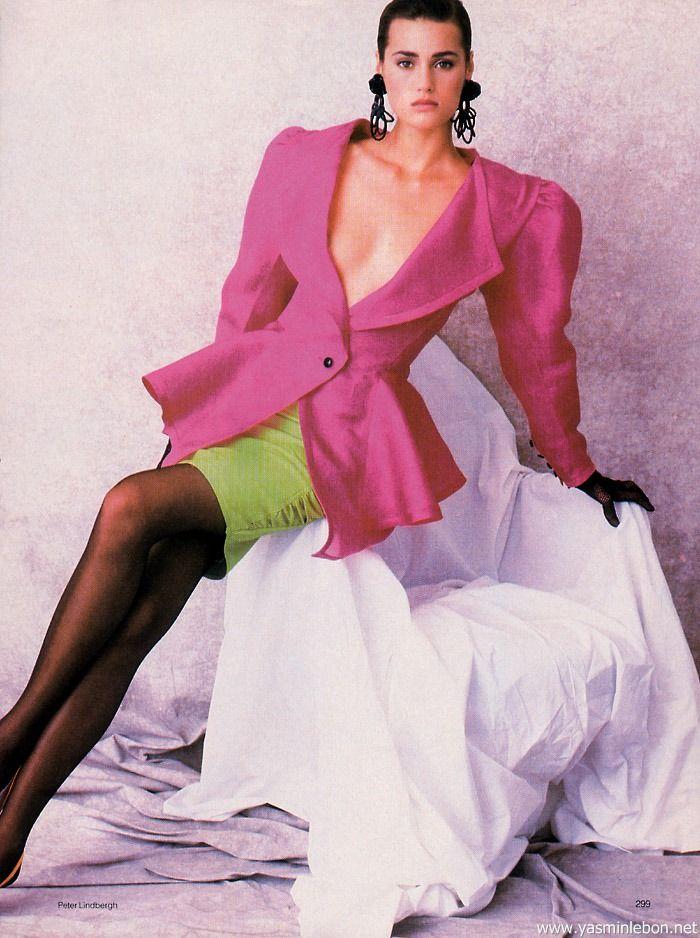 Yasmin 1987 big shoulder pads jacket uploaded by http://supermodelshrine.tumblr.com/