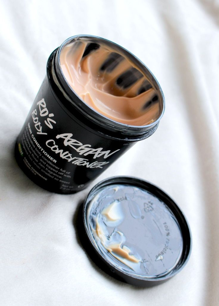 The Lush Ros' Argan Body Conditioner is my favorite product! It's the best!