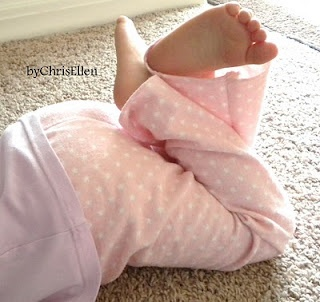 GENIUS!  old baby receiving blanket into pj pants