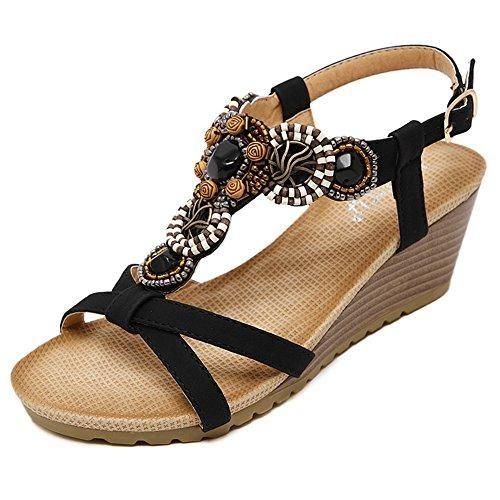 Oferta: 60€ Dto: -63%. Comprar Ofertas de Bohemia étnicas Cuñas Sandalias Multicolor Diamante de Imitación Zapatos Casuales Mujer Sandalias de Playa Elegante Zapatos d barato. ¡Mira las ofertas!