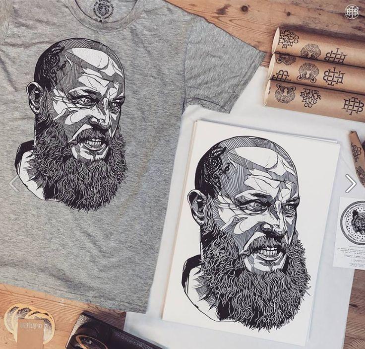 Ragnar Vikings tee - a firm favourite here at the Bearhug HQ #ragnar #vikings #illustration #lukedixon #thebearhugco