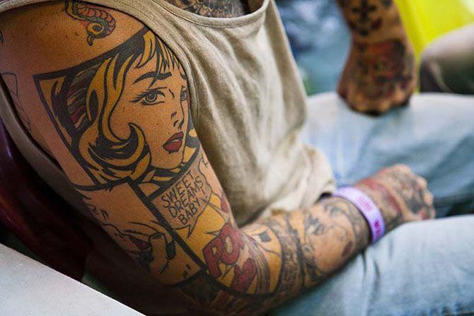 Татуировки, вдохновленные произведениями искусства