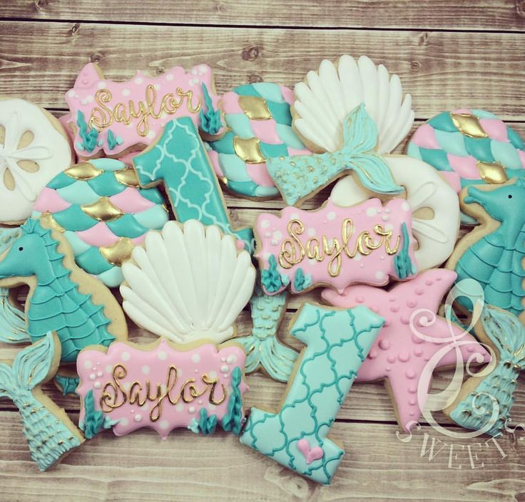Mermaid Tails & Sea Horse Cookies (Saylor)