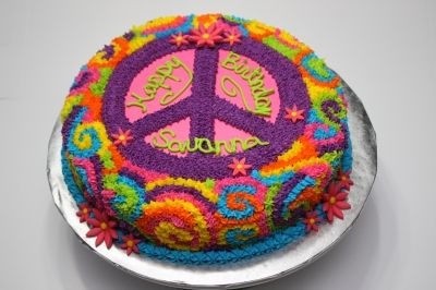 Peace Sign Tie Dye By jenstrong77 on CakeCentral.com