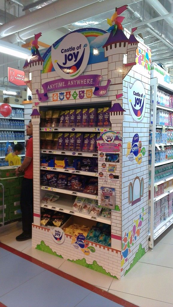 Dairy Milk Castle of Joy Gondola End | Gondola Display | point of purchase at thesellingpoints.com