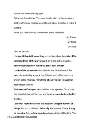 how to write a letter in english language