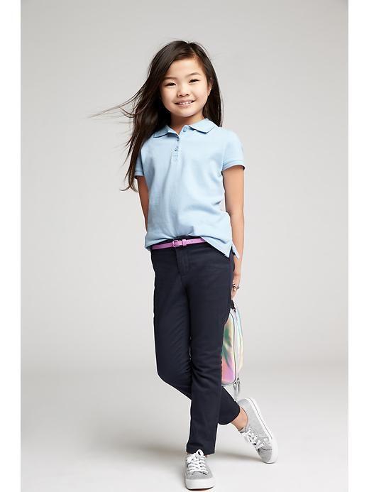 Girls Uniform Pique Polos Product Image