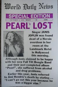 Janis Joplin (January 19, 1943–October 4, 1970)