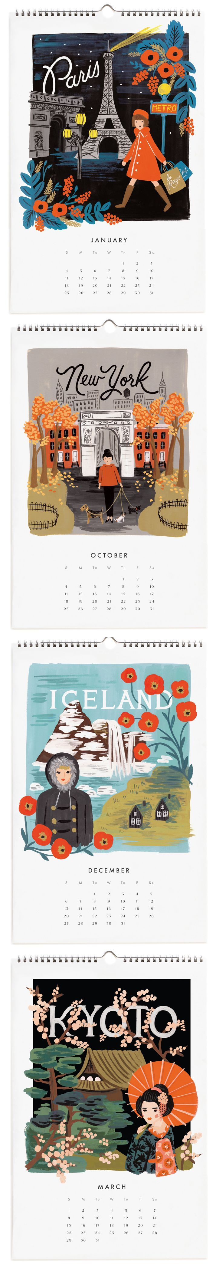 Rifle Paper Co / Calendar Pages