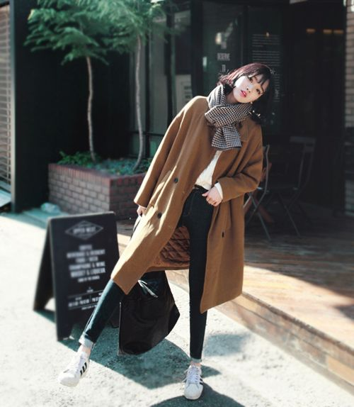 Garo Street Style long coat Korean street style fashion